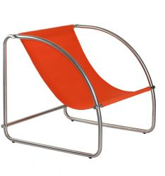 Lounge Chair Hop Steel & Cotton | Orange