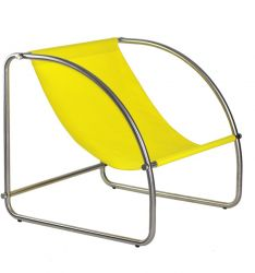 Lounge Chair Hop Steel & Cotton | Yellow