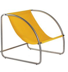 Lounge Chair Hop Steel & Cotton | Gold