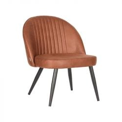 Lounge Chair Tyler | Cognac Brown