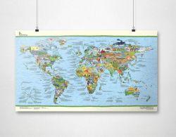 Wiederbeschreibbare Weltkarte | Fussball