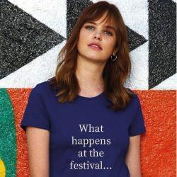 ♀ T-shirt Festival | Bleu