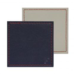 Umkehrbare Quadratische Untersetzer 4er-Set | Navy / Beige