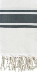 Fouta White & Grey