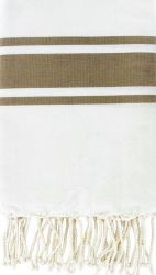 Fouta Wit & Taupe