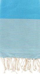 Fouta Turquoise Stripes