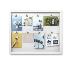 Fotodisplay-Clipline mit 8 Clips | Weiß
