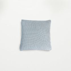 Roccamare Knitted Cushion | Light Blue