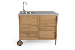Outdoor Kitchen Figalia | Light Wood & Concrete