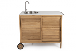 Outdoor Kitchen Figalia | Light Wood & Marble