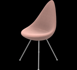Drop Chair | Pale Pink Canvas