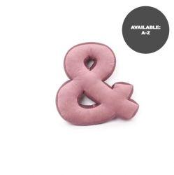 Cushion Letter Velvet Pink | &