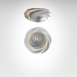Swirl Ceiling/ Wall Lamp | Silver