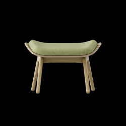 Footstool The Reader Oak | Spring Green