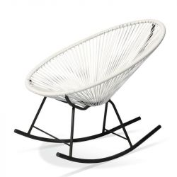 Rocking Chair Acapulco | White