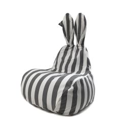 Small Bean Bag | Grey Stripe