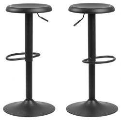 Set of 2 Bar Stools Lynch | Black