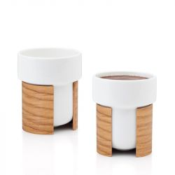 WARM Set of 2 Tea & Coffee Cups | White/Oak