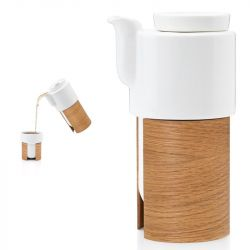 WARM TeaPot/Coffee Pot Small | White/Oak