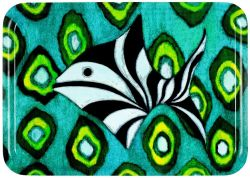 Tray Fish & Green Ikat