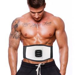 Abdominal Muscle Electrostimulation Belt | White