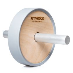 Kjerag Exercise Wheel | Grey Aluminium & Birch Wood