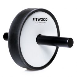 Kjerag Exercise Wheel | Black Aluminium & White Wood