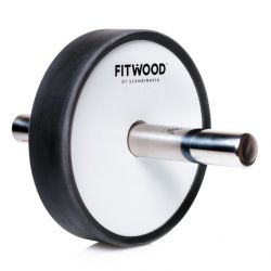Kjerag Exercise Wheel | White Wood, Stainless Steel & Black Finish