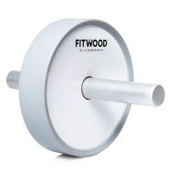 Kjerag Exercise Wheel | Grey Aluminium & White Wood