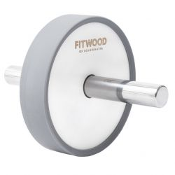 Kjerag Exercise Wheel | White Wood, Stainless Steel & Grey Finish