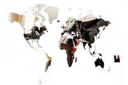 Exclusive World Map 130 x 78 cm | Mirror