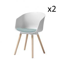 Stuhl Foon 30 Stoffkissenset 2er-Set | Weiß / Blau