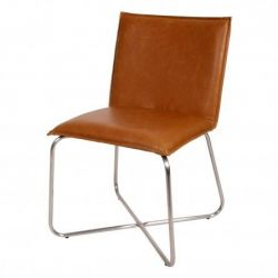 Chaise Cross | Cognac