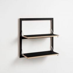 Legboord Fläpps 80 x 80 cm Triple | Zwart