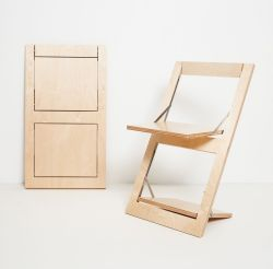 Folding Chair Fläpps | Birch Clear
