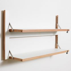 Shelf Fläpps Double 80 x 40 cm | White