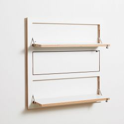Shelf Fläpps Triple 80 x 80 cm | White