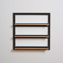 Shelf Fläpps Triple 80 x 80 cm | Black