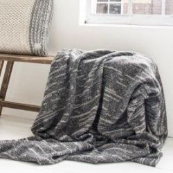 Native Knit Throw | Anthracite Mix