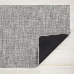 Teppich Ikat Geflochten 59 x 92 cm | Weiß Silber
