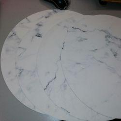 Vinyl-Tischset Carrara | Rund