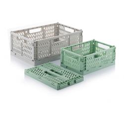 Set of 3 Boxtor Folding Boxes | Green-Grey
