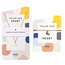 Halskette & Armband Follow your Heart | Gold