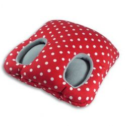 Foot Muffs Square | Polkadot Red