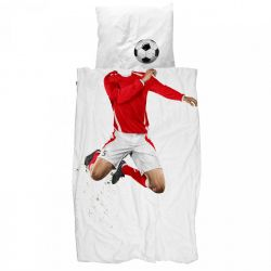 Soccer Champ Duvet Cover | Red