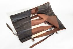 Leather BBQ Pouch 6 Pockets