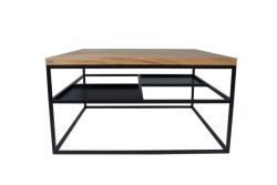 FOURSQUARE Coffee Table | Black Matt & Oak