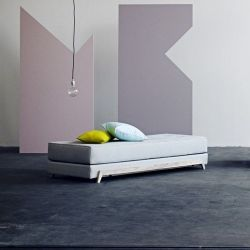 Frame Sofa Bed- Cento Grijs/Wit