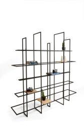 FRAMES Rack/Room Divider | Schwarz, Holzregale
