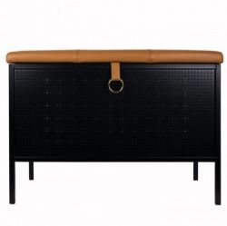 Storage Bench Frank | Black & Cognac